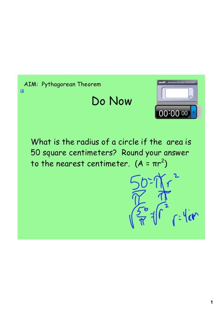 Day 2 pythagorean theorem