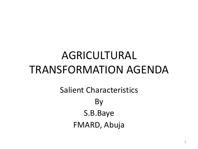 Day 2, Session 2: Round Table Discussion about the Agricultural Transformation Agenda (ATA)