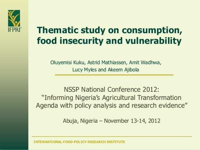 Day 2, Session 4: Enhancing Food Security and Nutrition through Agricultural Growth