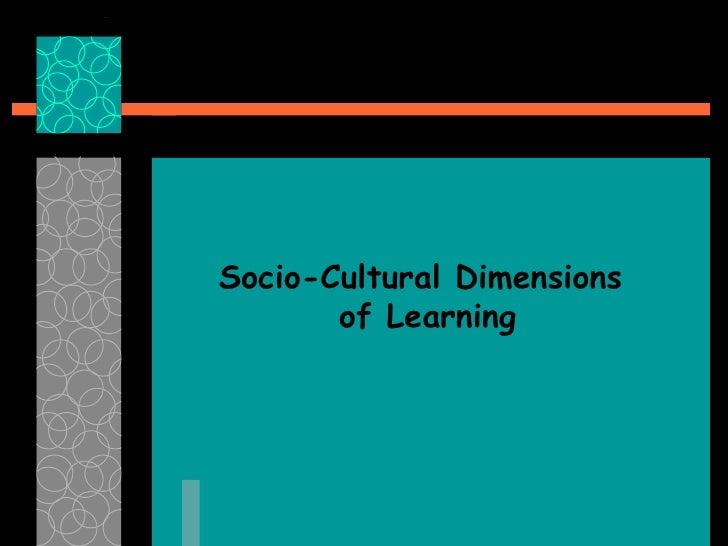4. Las dimensiones socio-culturales del aprendizaje 1