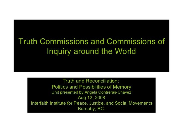 Day2 Intro Truth Commissions World