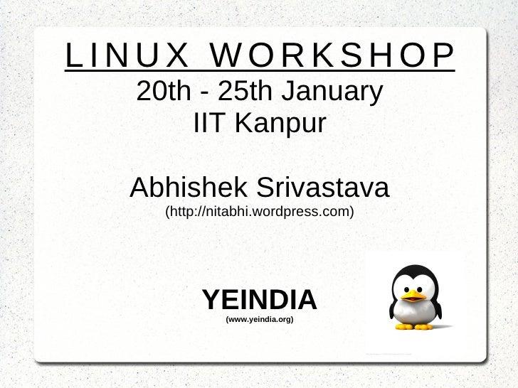 Linux Workshop , Day 3