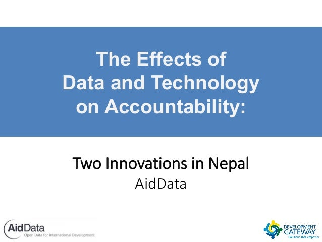 The Effects of Data and Technology on Accountability: Two Innovations in Nepal AidData
