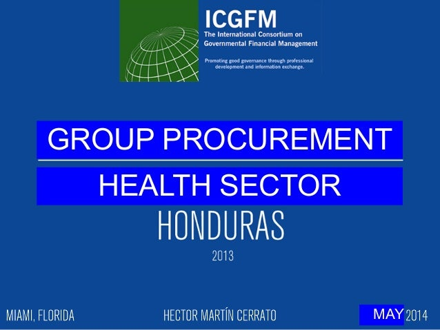 GROUP PROCUREMENT HEALTH SECTOR MAY
