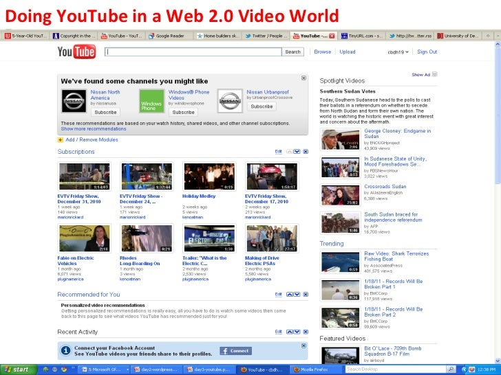 Doing	  YouTube	  in	  a	  Web	  2.0	  Video	  World