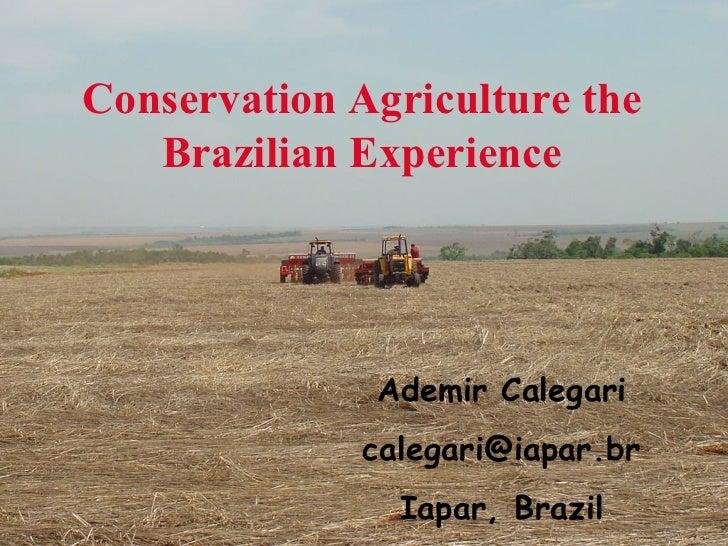 Ademir Calegari [email_address] Iapar, Brazil Conservation Agriculture the Brazilian Experience