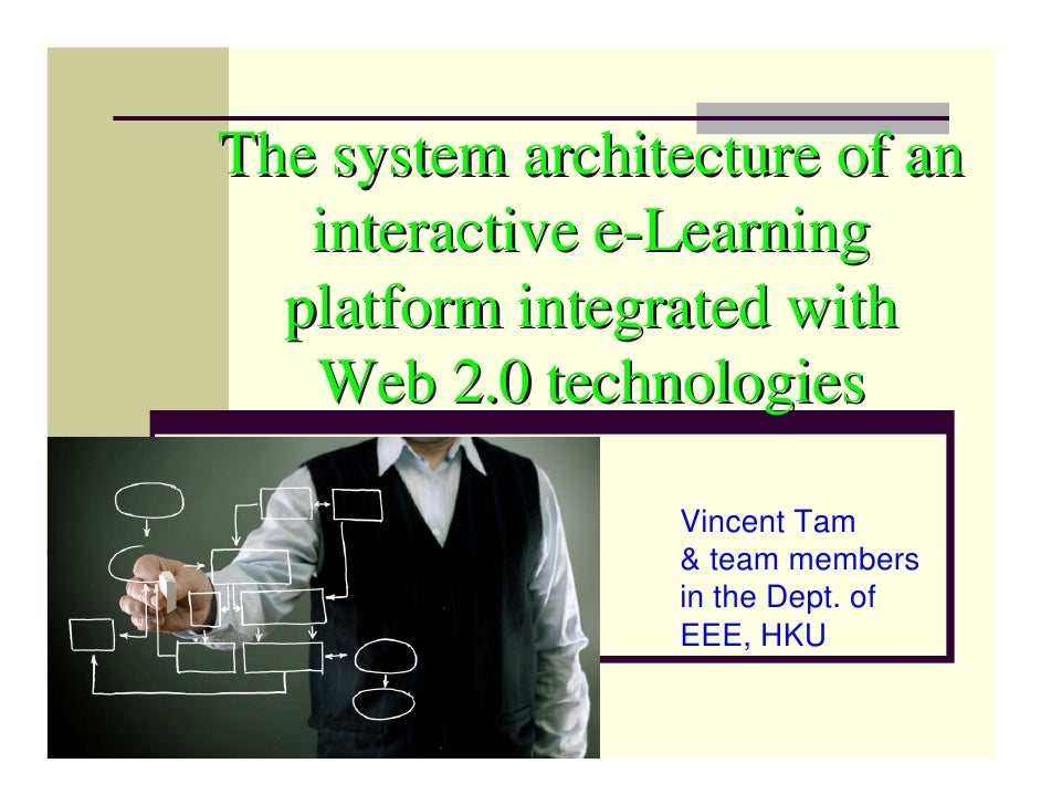 The system architecture of an    interactive e-Learning   platform integrated with    Web 2.0 technologies                ...