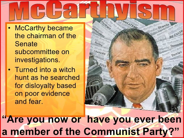 McCarthyism & Red Scare