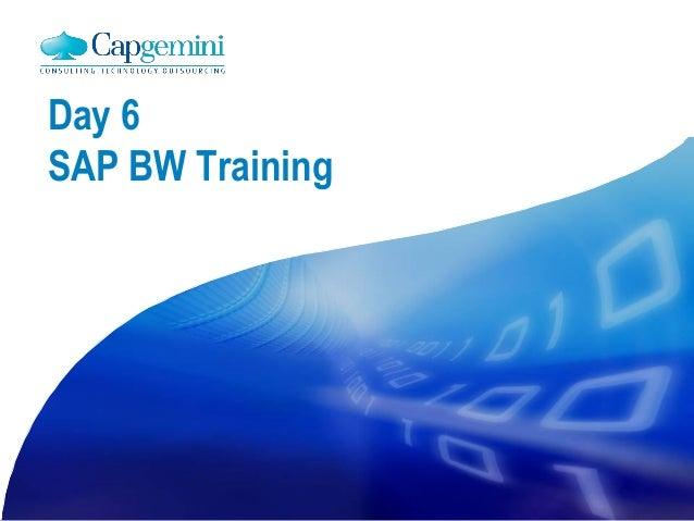 Day 6 SAP BW Training