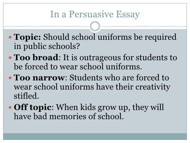 argumentative essay school uniforms
