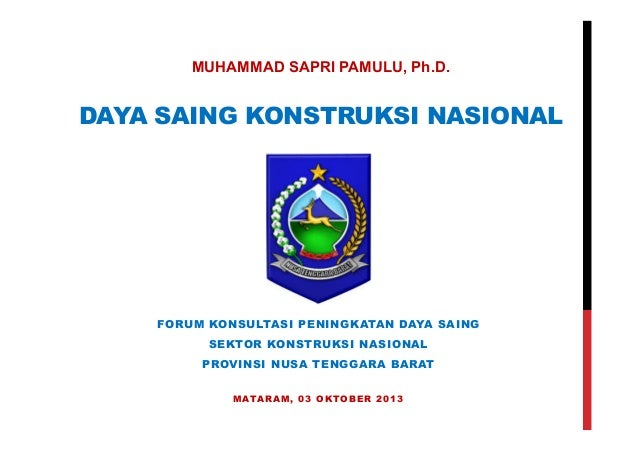 Daya Saing Nasional Sektor Konstruksi
