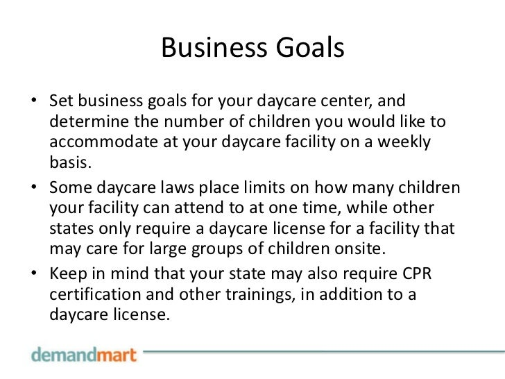 How To Write A Business Plan For A Daycare