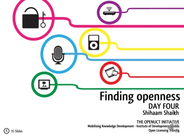Understanding Open Licensing: Day Four - Finding Openness
