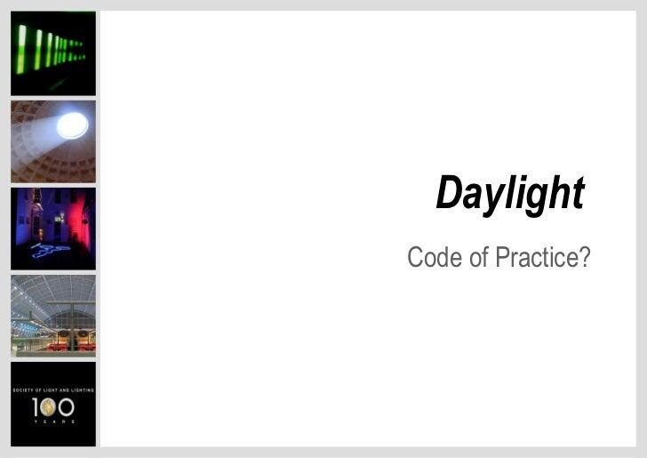 Daylight Legislation- Peter Raynham
