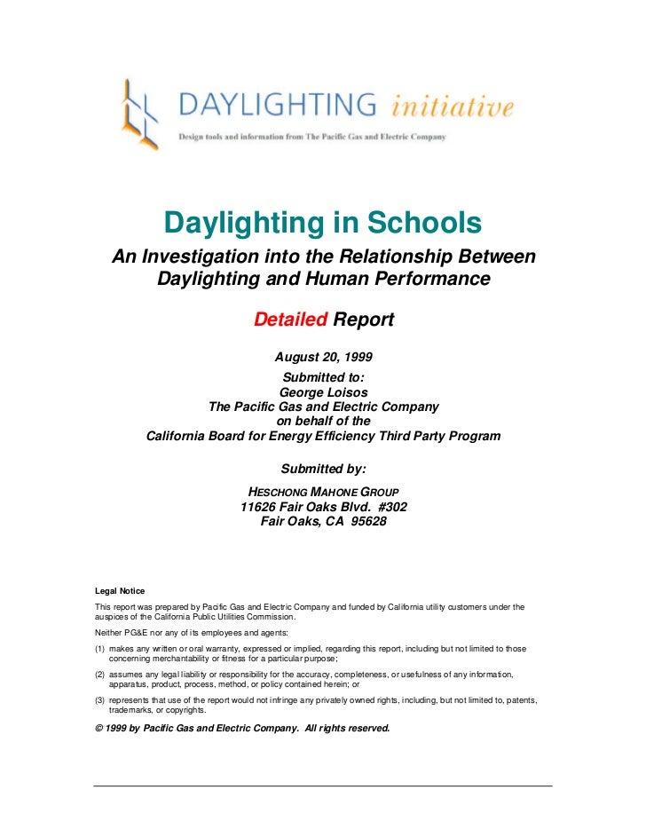 Daylighting study