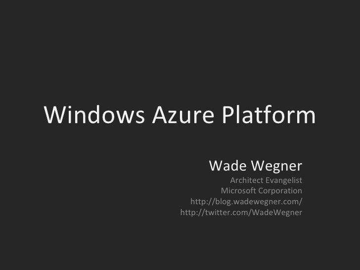 Day Of Cloud - Windows Azure Platform