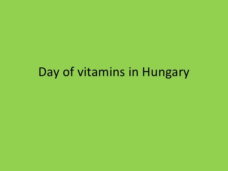 Day of vitamins in Hungary