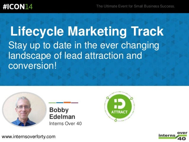 The Ultimate Event for Small Business Success. Lifecycle Marketing Track Stay up to date in the ever changing landscape of...