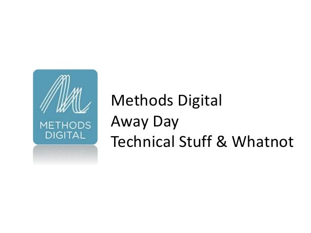 Methods Digital Away Day at Guildford - Cloud Computing