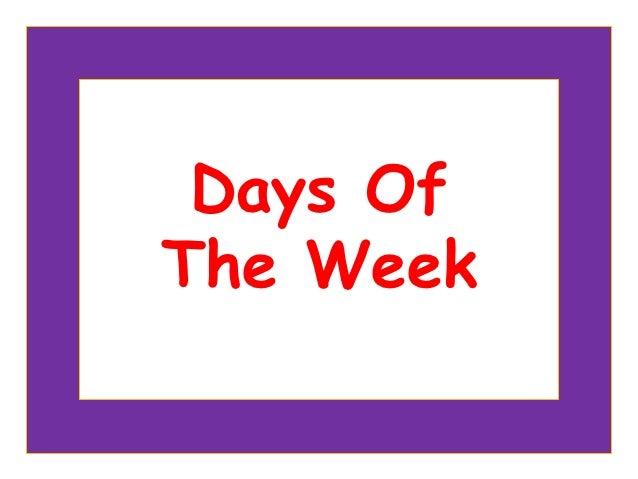 Days OfThe Week     Copyright © 2005 – 2006 MES-English.com