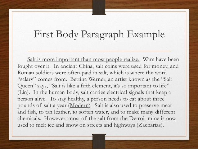 How do i write body paragraph for research essay?