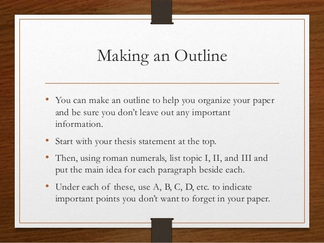 how to make an outline for an essay example