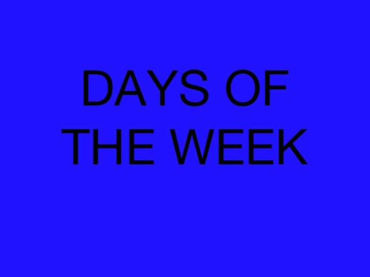 Days Of The Week Best