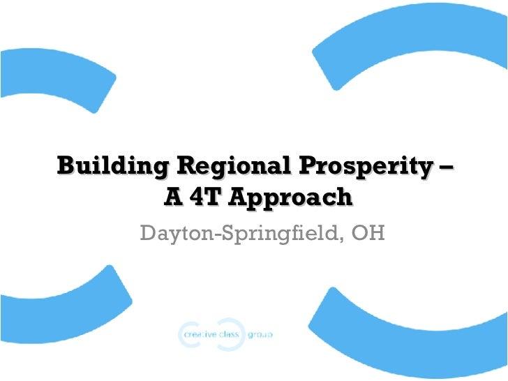 Dayton-Springfield Creative Class Demographics