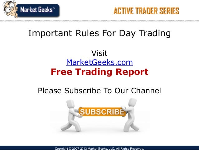 Option day trading rules
