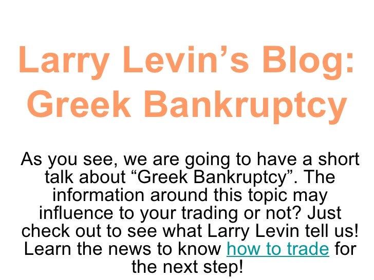 Day Trading Blog : Greek Bankruptcy
