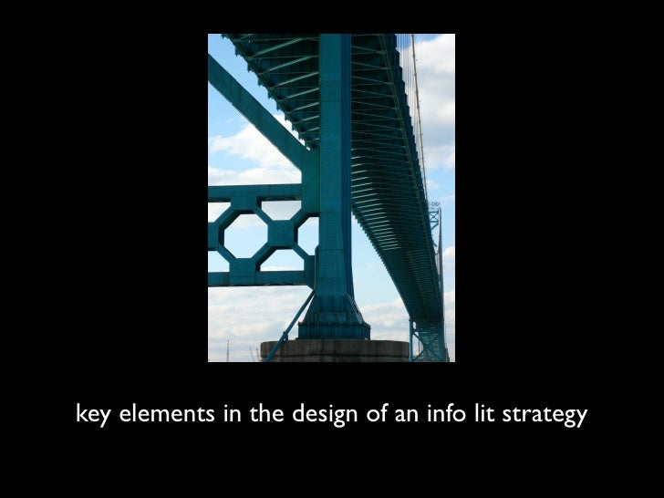 key elements in the design of an info lit strategy