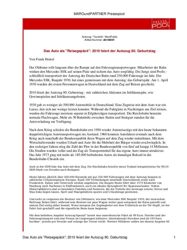 MAROundPARTNER Pressepool                                            Autozug / Touristik / MaroPublic                     ...