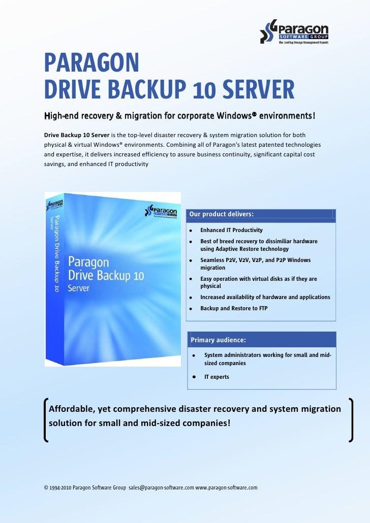 Drive Backup 10 Corporate Datasheet Us