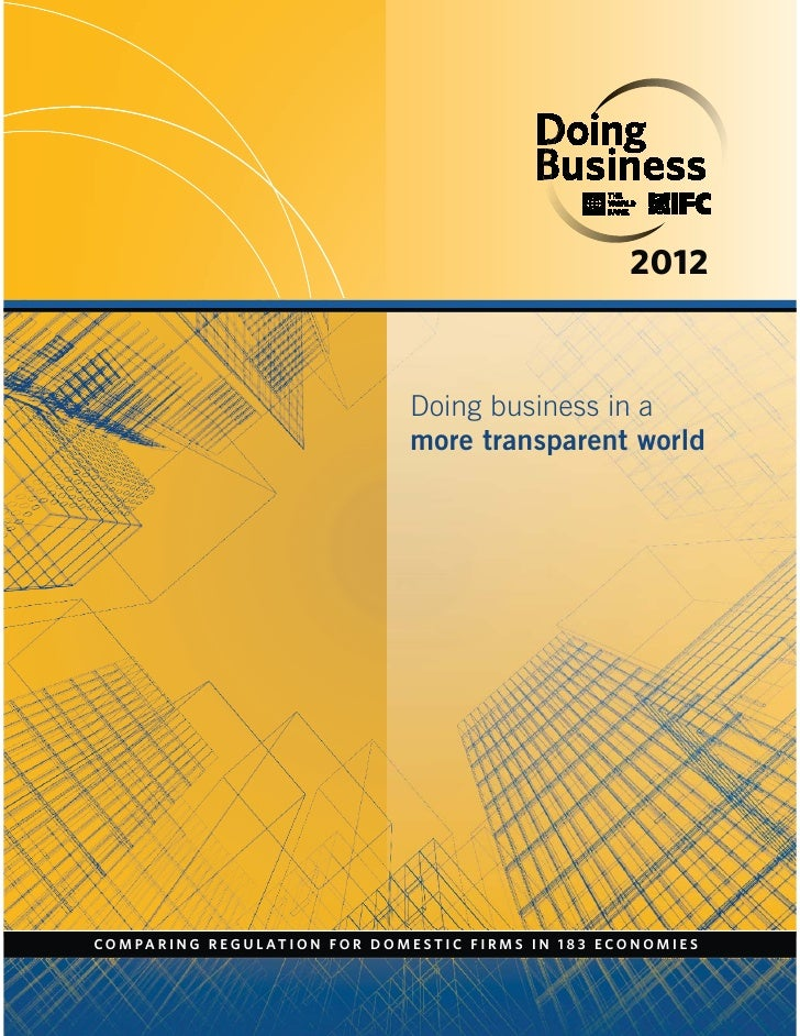 Doing Business beyond borders 2012
