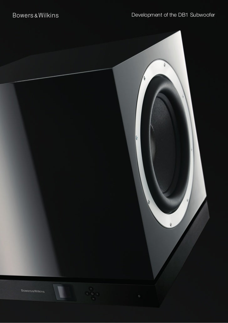 Development of the DB1 Subwoofer