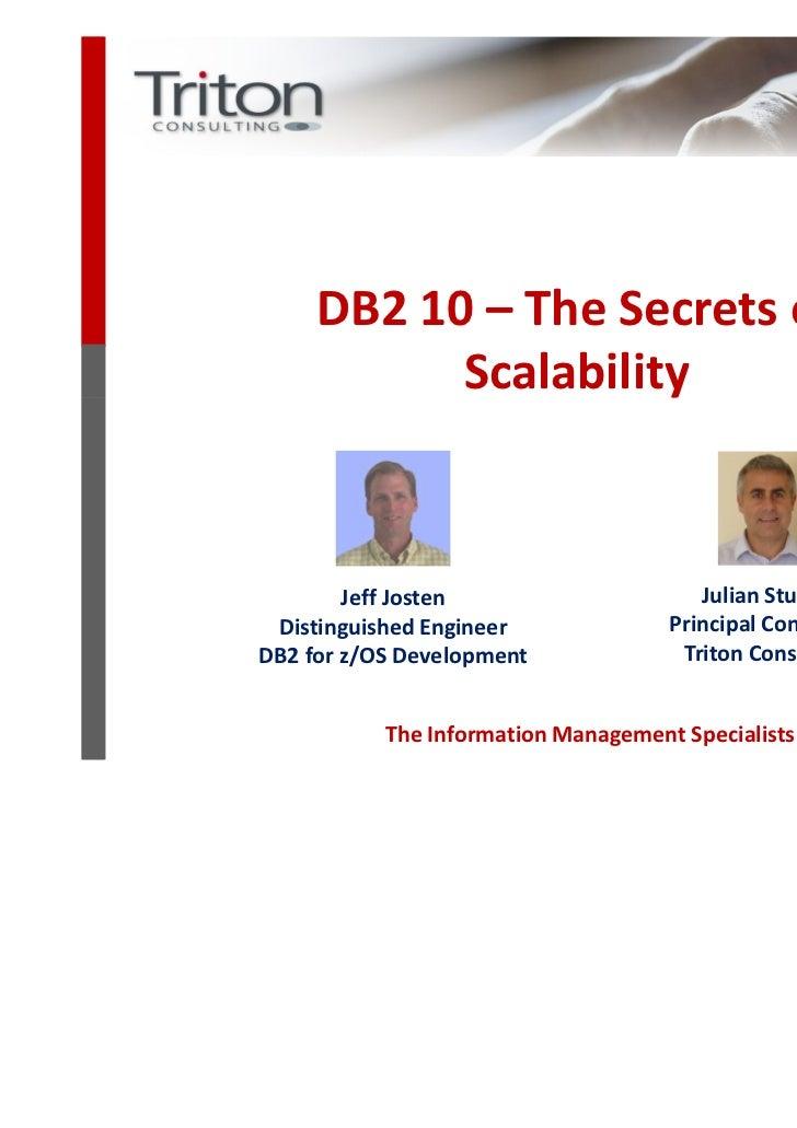 DbB 10 Webcast #3   The Secrets Of Scalability