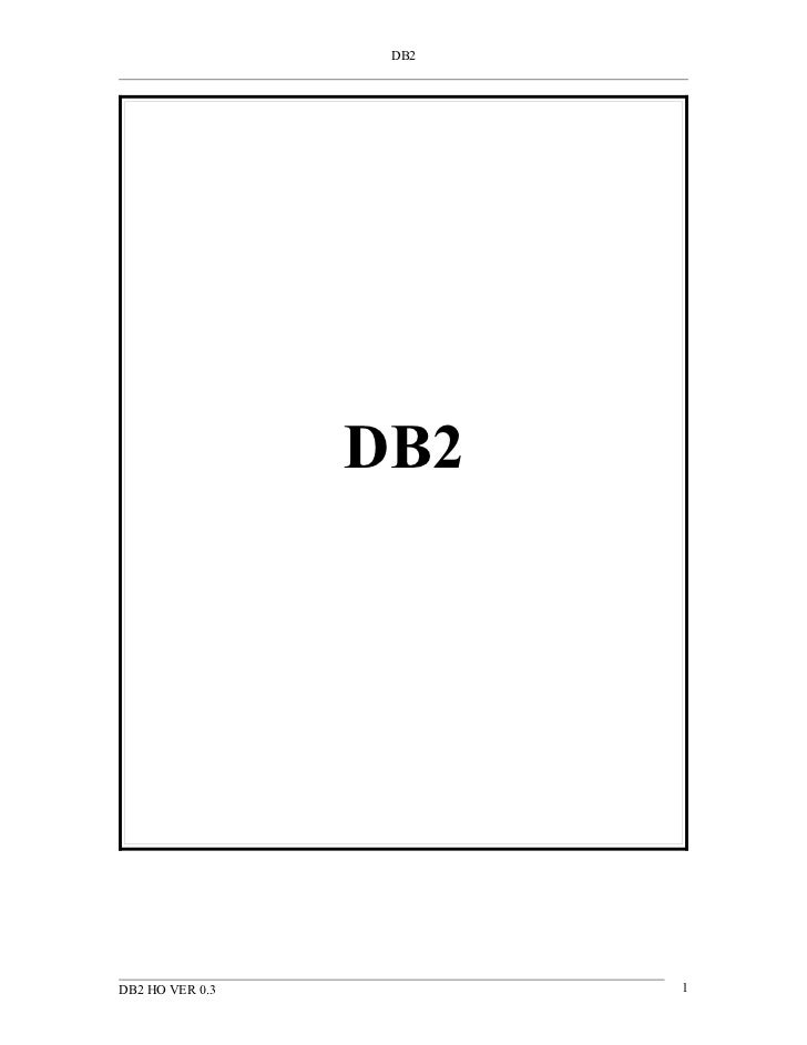 DB2 DOCUMENT