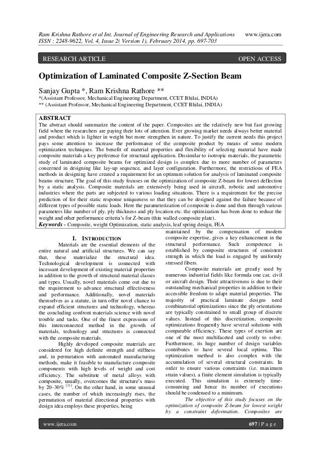 Ram Krishna Rathore et al Int. Journal of Engineering Research and Applications ISSN : 2248-9622, Vol. 4, Issue 2( Version...