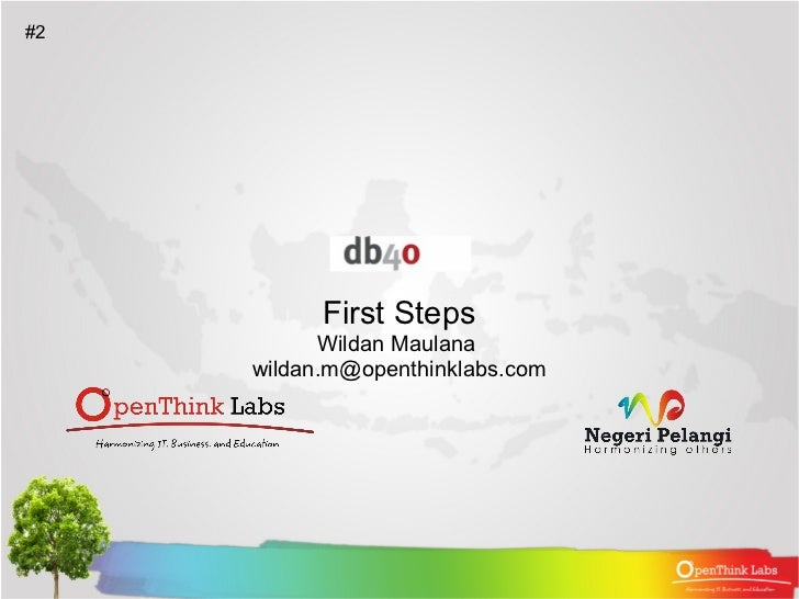 First Steps. (db4o - Object Oriented Database)