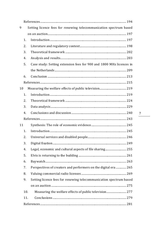 Apa thesis format table of contents