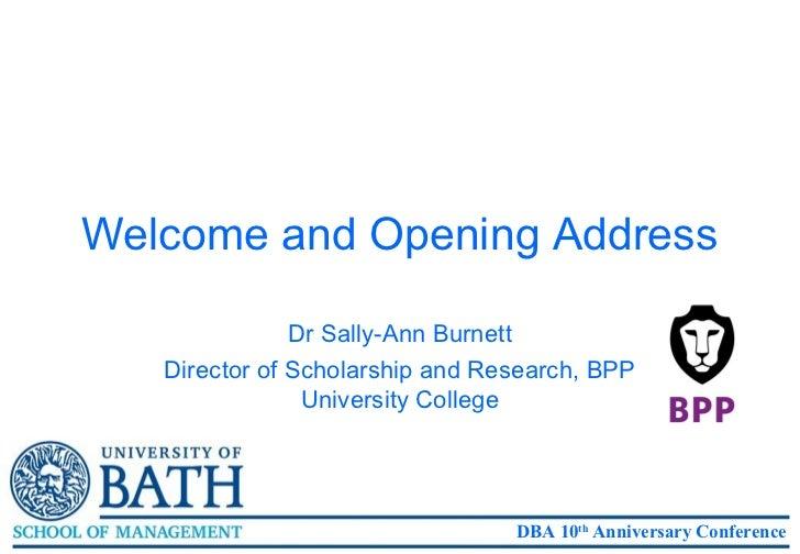 DBA-HEM 10th Anniversary Sally-Ann Burnett