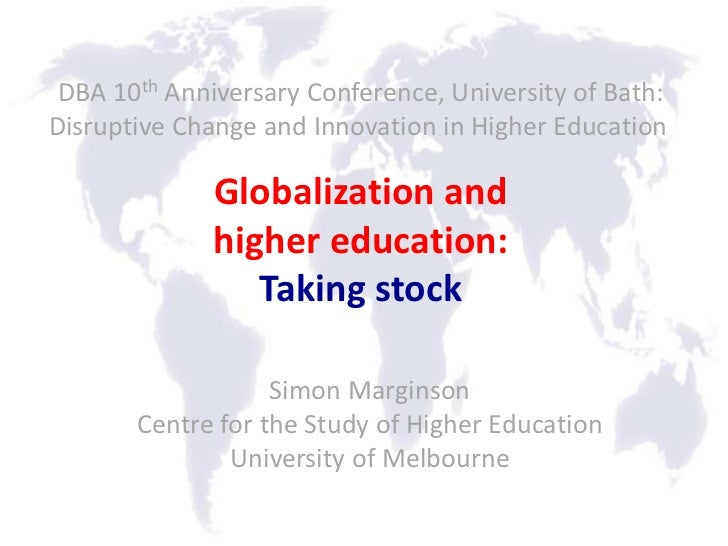 DBA 10th Anniversary Conference, University of Bath:Disruptive Change and Innovation in Higher Education              Glob...