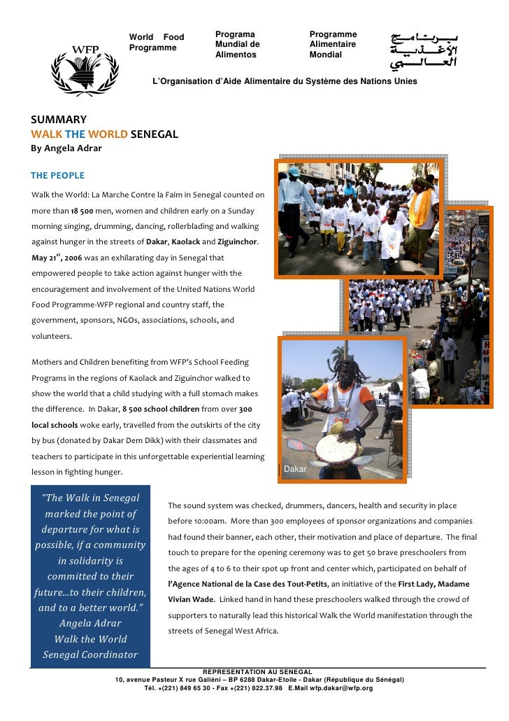 Fight Hunger Walk the World Senegal