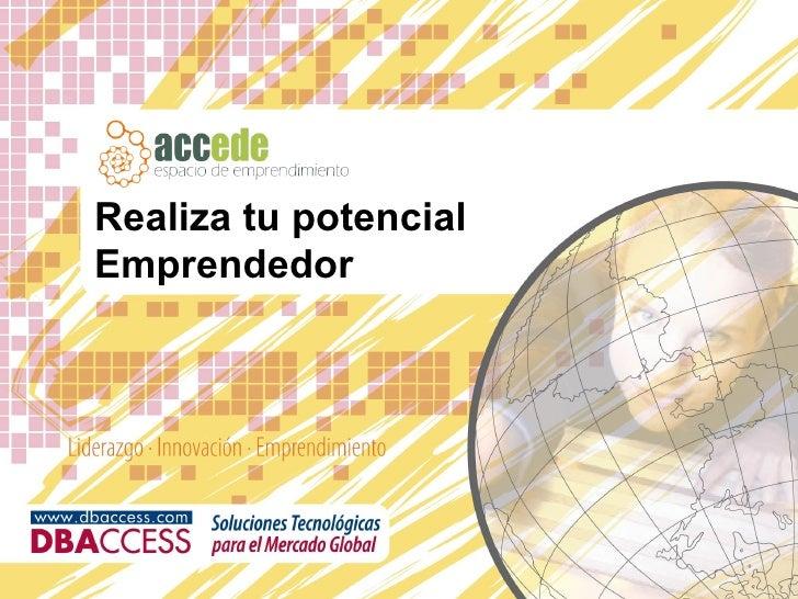 Realiza tu potencial Emprendedor