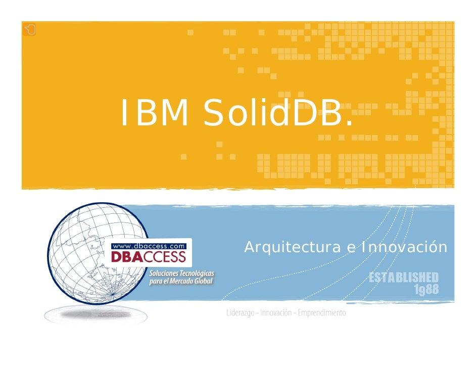 Servicios DBAccess en IBM SolidDB