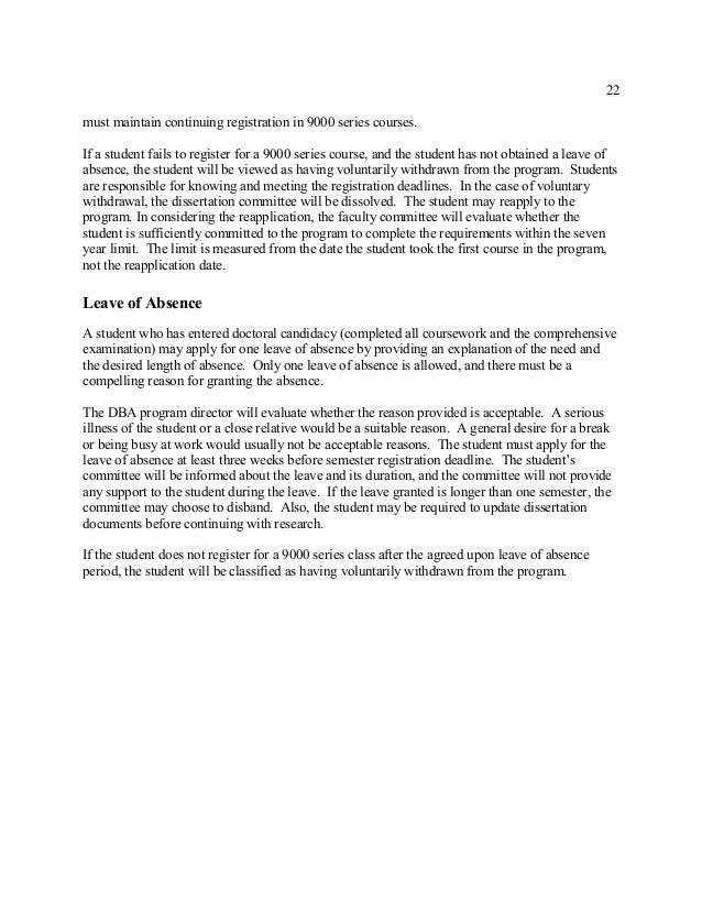 Wilmington University DBA Dissertation Guide