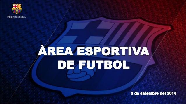 Balanç Àrea Esportiva (Estiu 2014-15)
