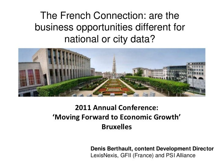The French Connection: are the business opportunities different for national or city data?