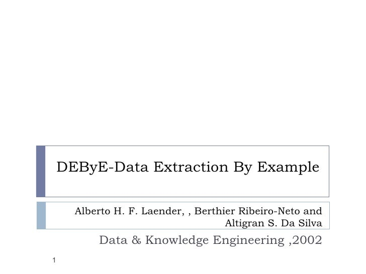 DEByE─Data Extraction By Example