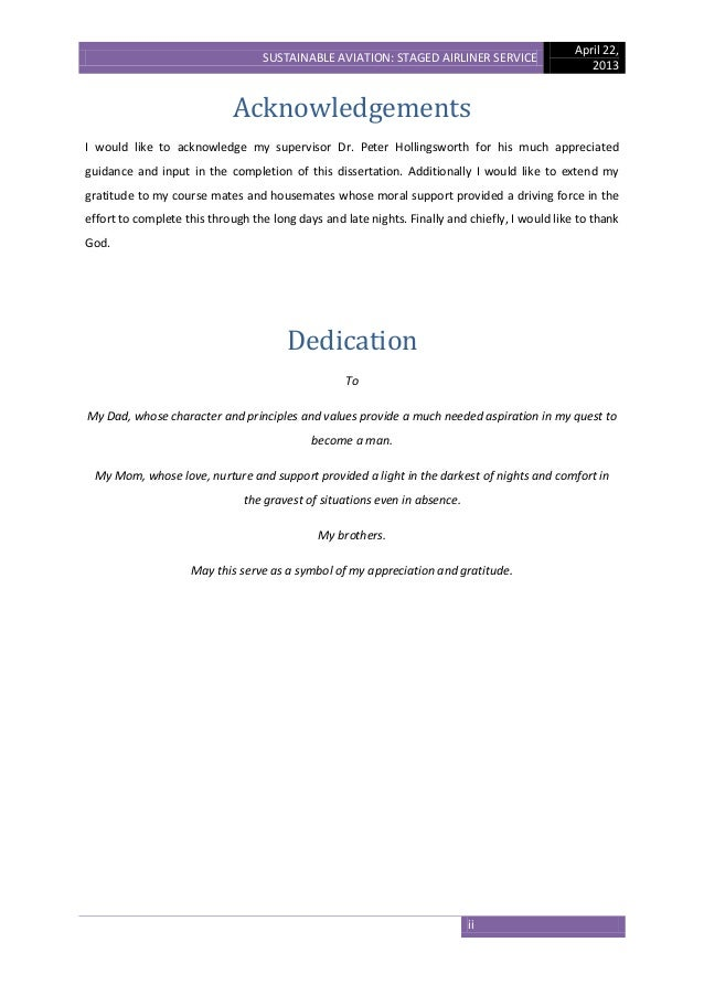 Dissertation bachelors